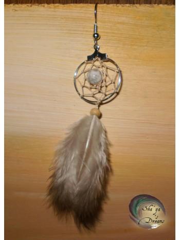 Boucle d'oreille Dreamcatcher Igle Howlite