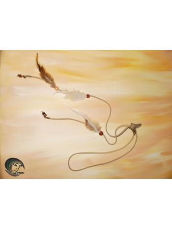 Coiffe Mee'e Tabac - Oeil de tigre et unakite