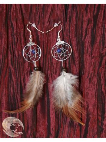 Boucles d'oreille Dreamcatcher Igle Lapis lazuli