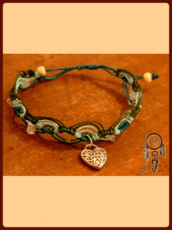 Bracelet Gypsy Charms - Collection Gypsy - Pierre de lune et quartz rose