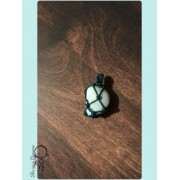 Pendentif pierre roulée Larimar 25 ct